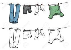 29618388-ropa-en-tendedero-color-y-contorno-colgando-foto-de-archivo